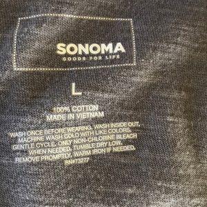 Sonoma Tops - Sonoma Gray Tie Dye Button Down Top Size L     A27